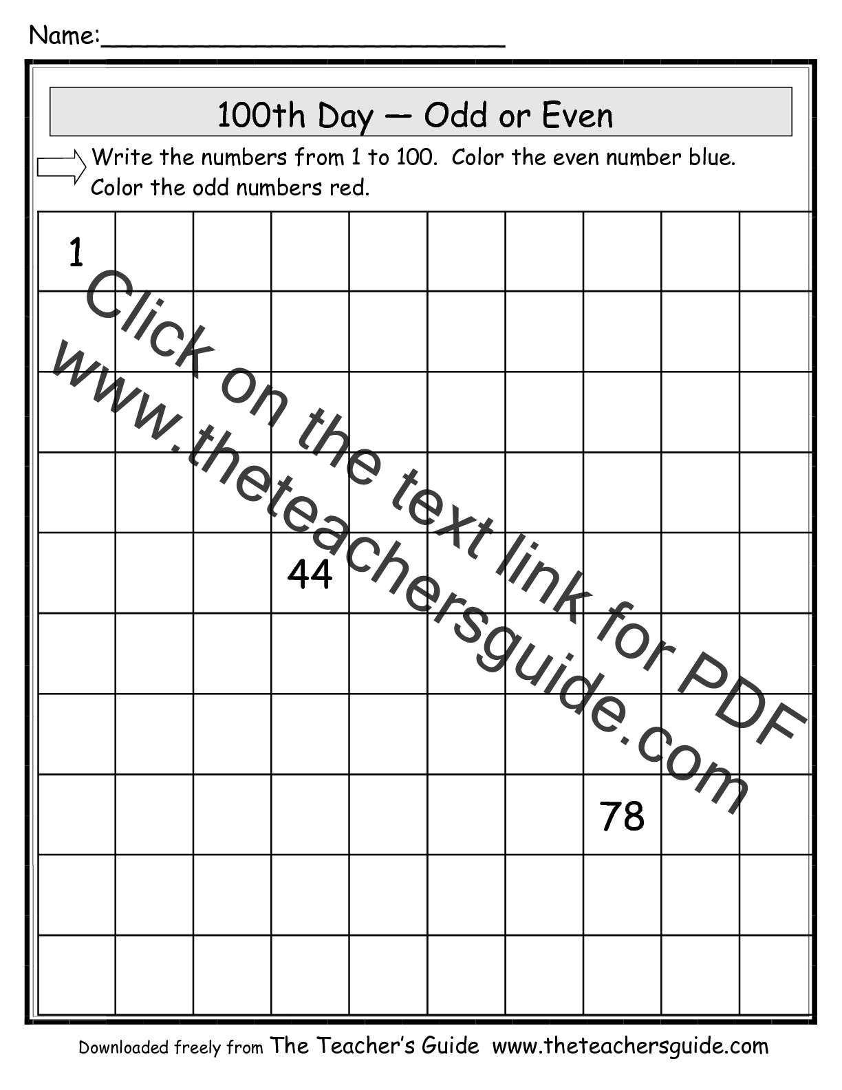 Worksheets 100th Day Of School Worksheets the teachers guide 100th day of school theme page worksheet