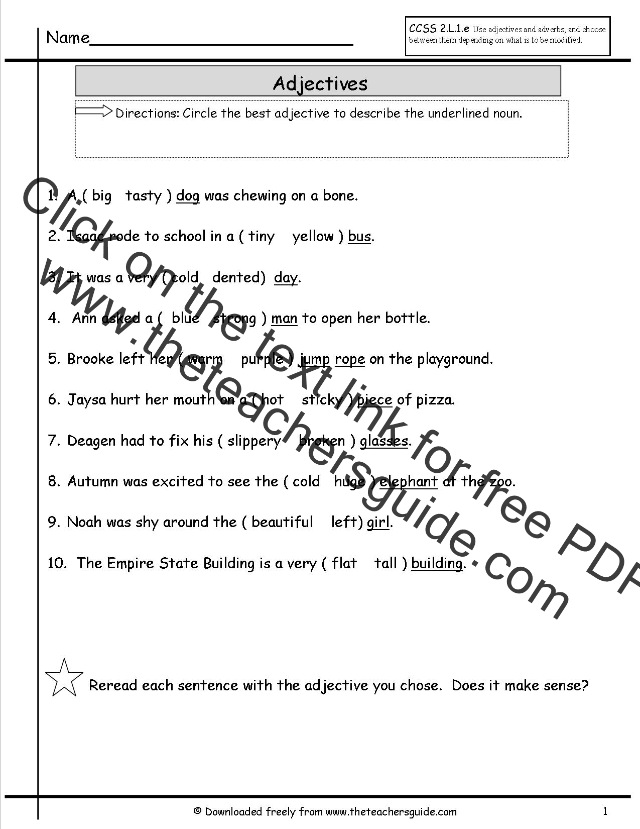 similar results subject noun worksheets third grade writing worksheets ...