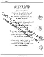 autumn poem worksheet