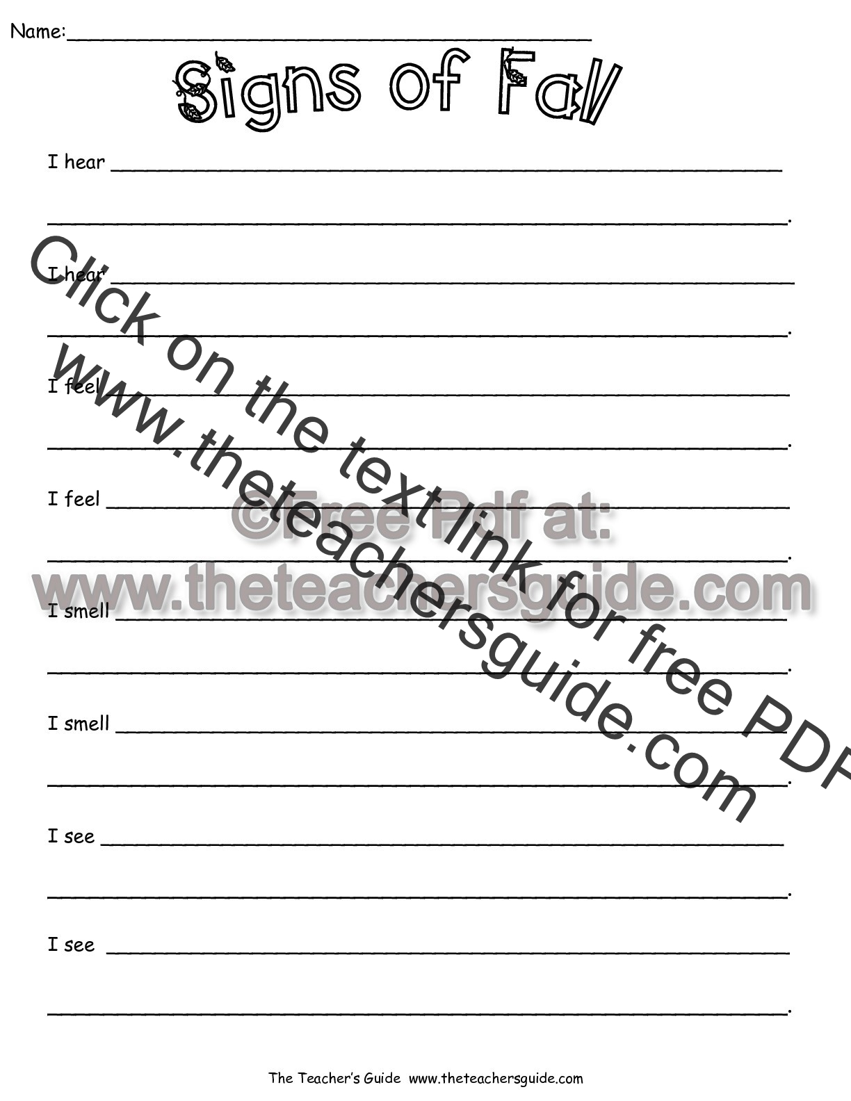 signs of fall worksheet - Fall Worksheets For First Grade