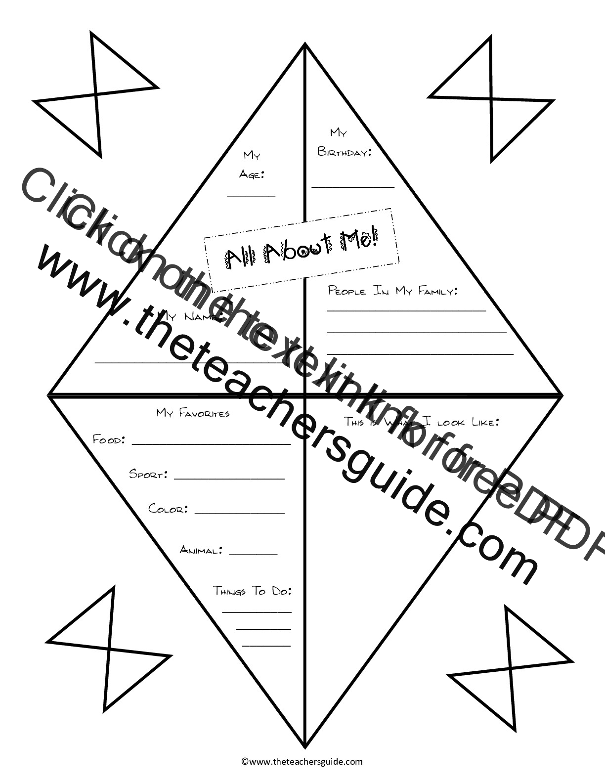 math worksheet : back to school printouts from the teacher s guide : All About Me Worksheets For Kindergarten