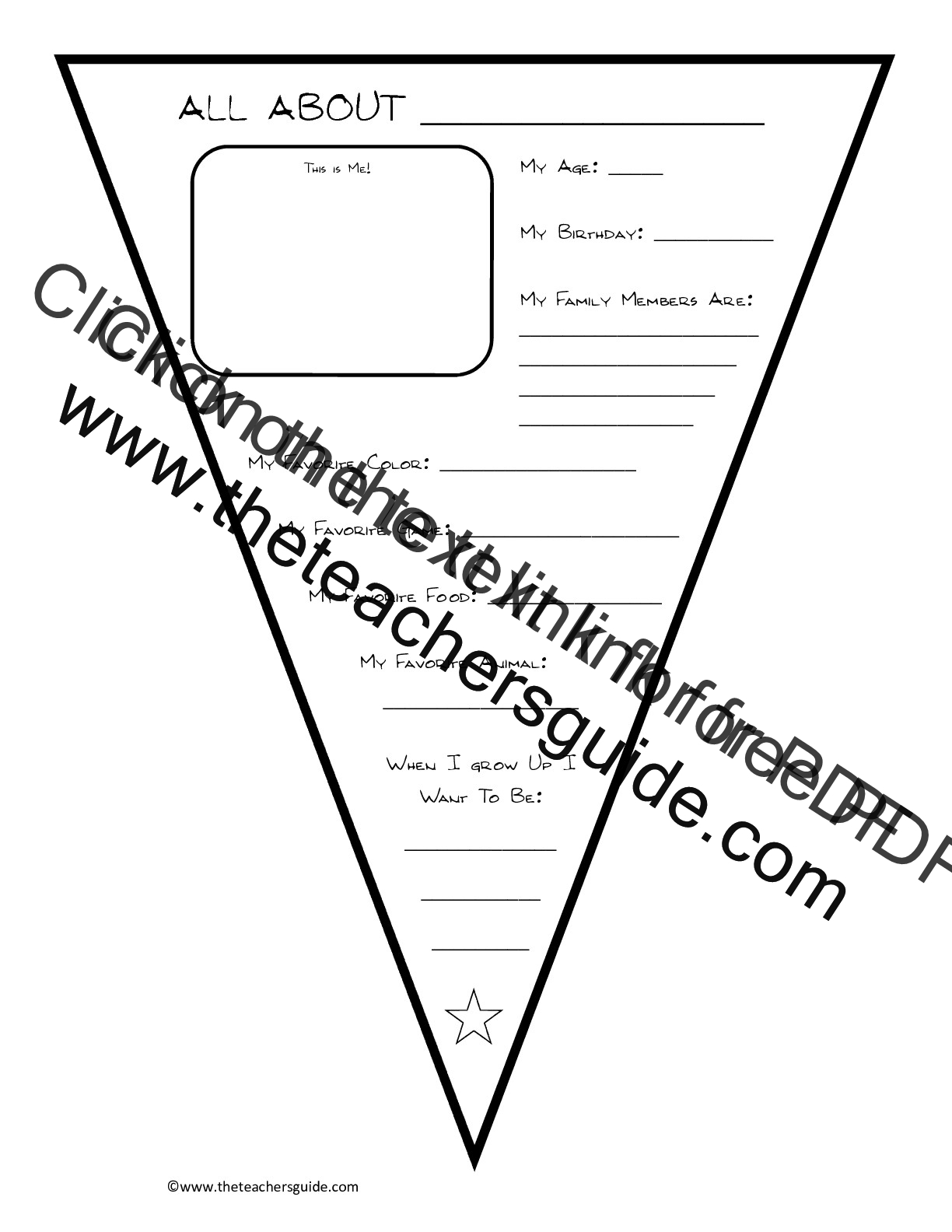 Printables Free All About Me Worksheet back to school printouts from the teachers guide about me worksheet