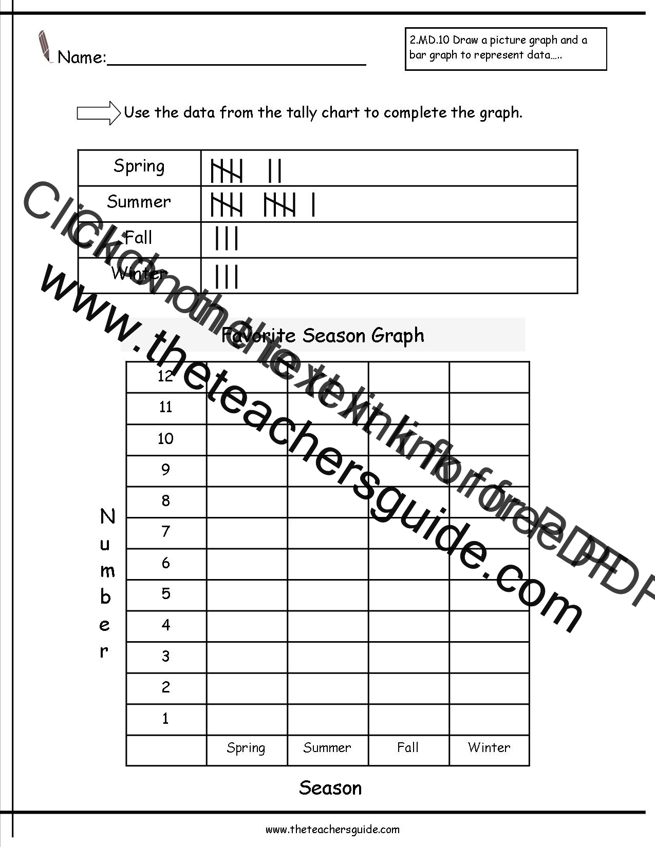 Reading and Creating Bar Graphs Worksheets from The Teachers Guide – Bar Graph Worksheets