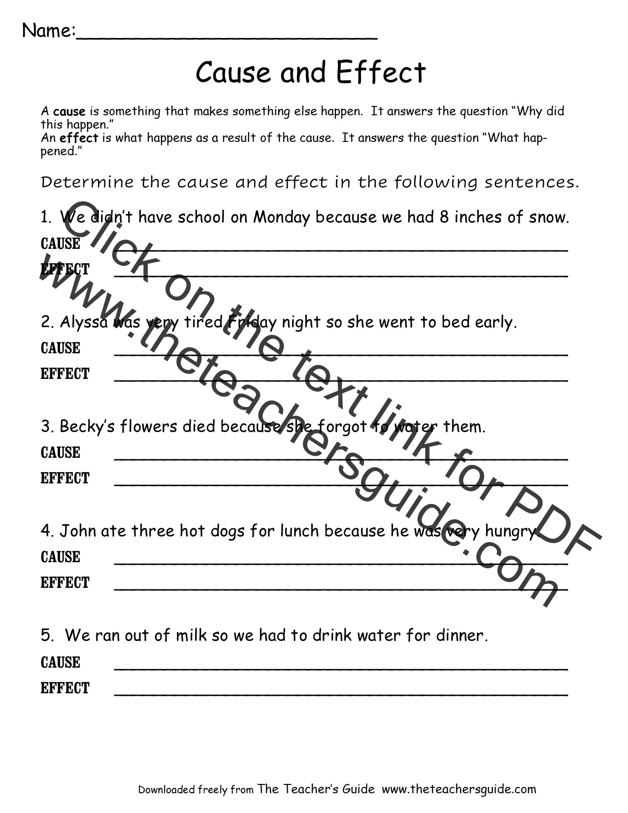Flashlight Cause and Effect Worksheet | Flashlight, Worksheets and ...