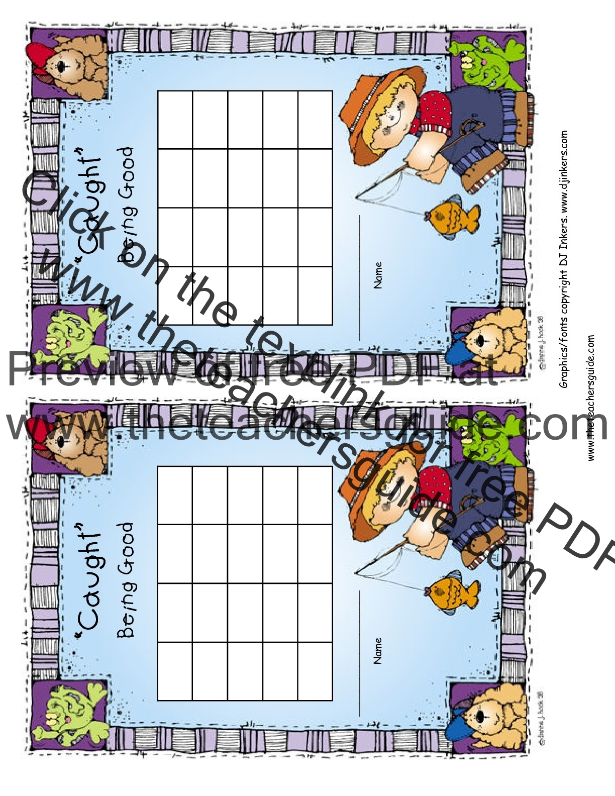 The Teacheru0027s Guide  Kids Behavior Chart Template