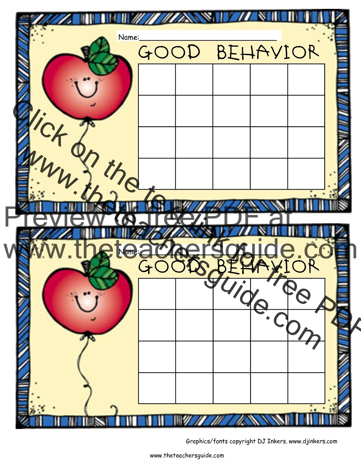 Free Printable Reward and Incentive Charts – Free Reward Charts to Download