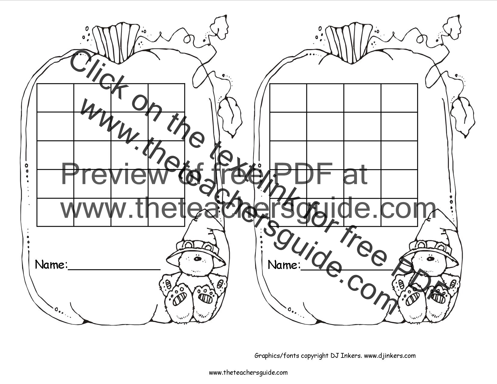 Pumpkins Lesson Plans, Themes, Printouts, Crafts and Clipart