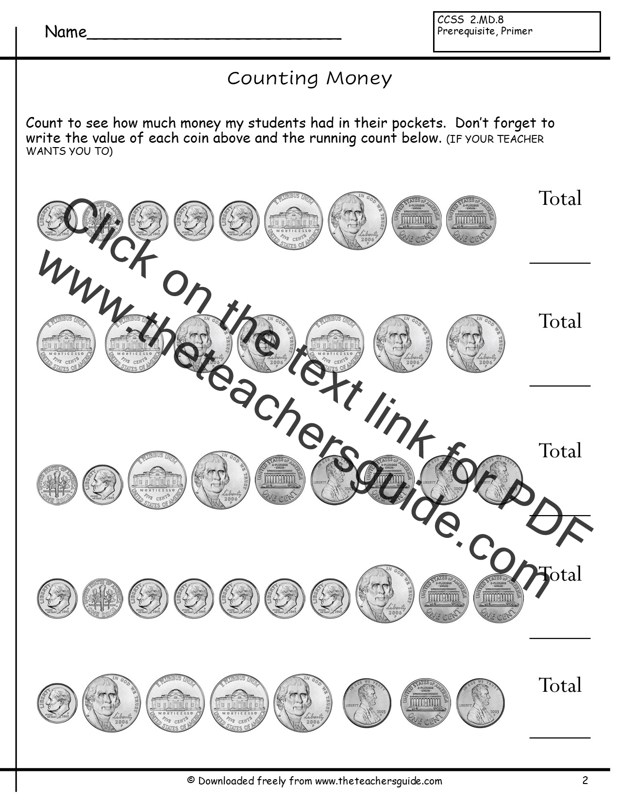 Worksheets Coin Values Worksheet counting coins worksheets from the teachers guide without quarters 2 3