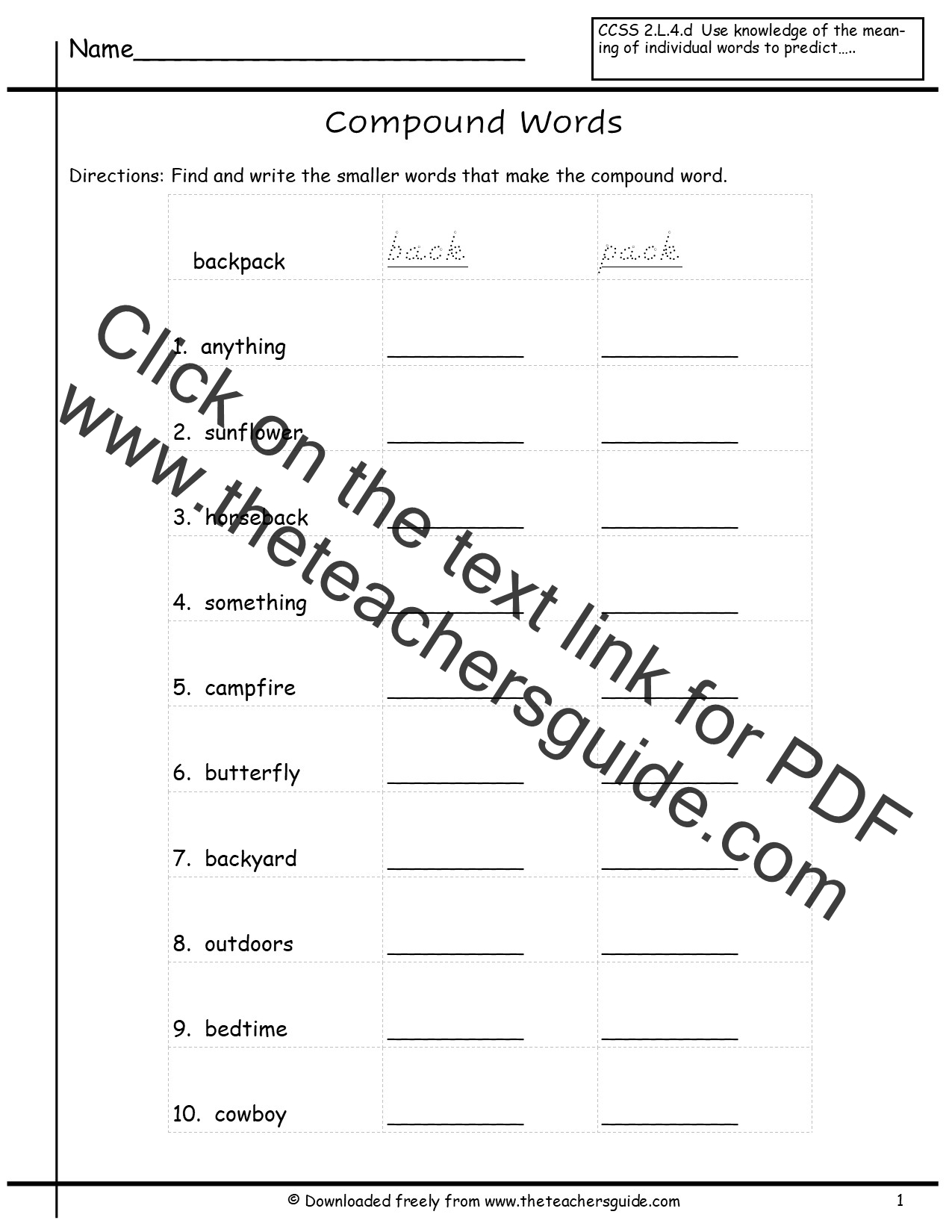 Worksheet Compound Words Worksheets 2nd Grade compound words worksheet 2nd grade delwfg com word activities for coffemix
