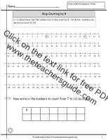 skip counting by 8 worksheet