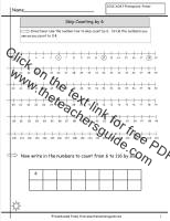 skip counting by six worksheet