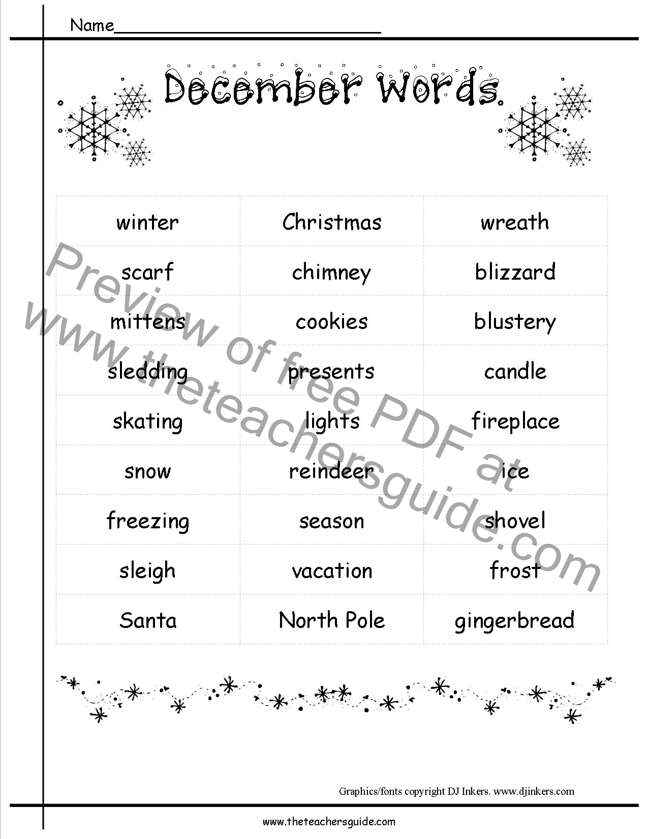 December Holidays Lesson Plans And Themes - Thematic lesson plan template