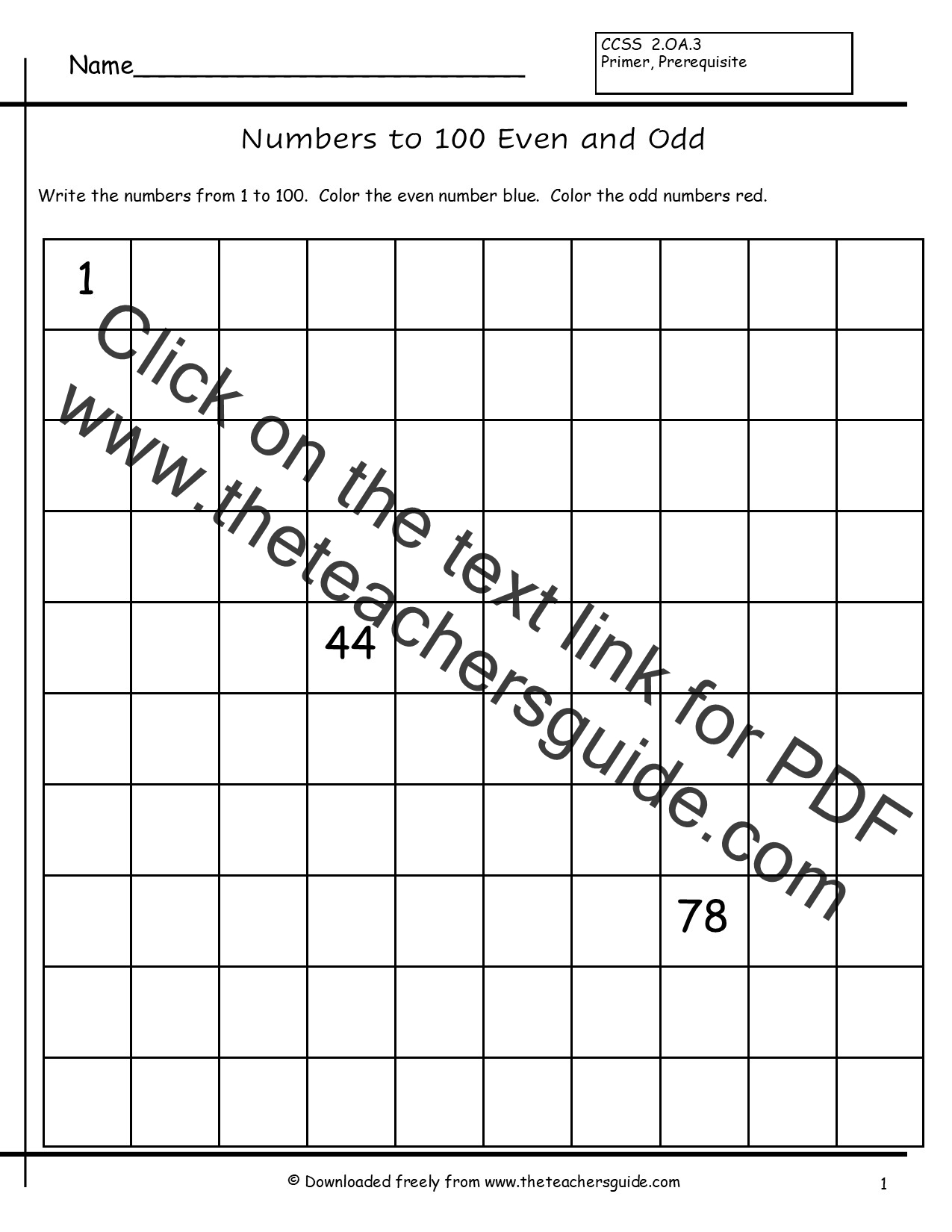 worksheet Odd And Even Worksheets even and odd numbers worksheets from the teachers guide 1 to 100 worksheet