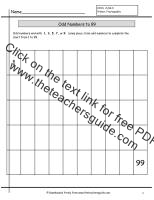 odd numbers worksheet