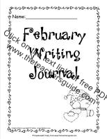 february writing journal printout