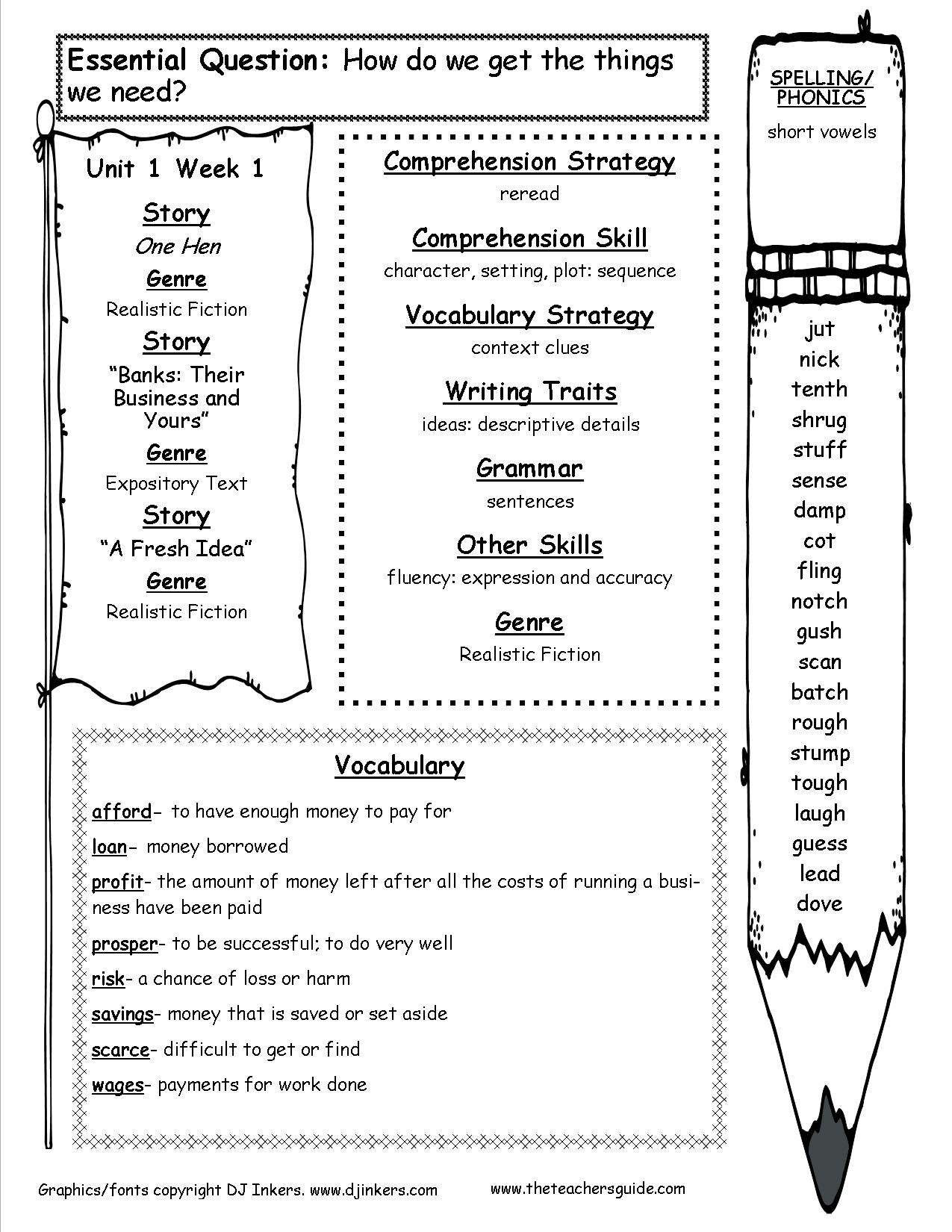 Worksheets Fifth Grade Spelling Worksheets mcgraw hill wonders fifth grade resources and printouts