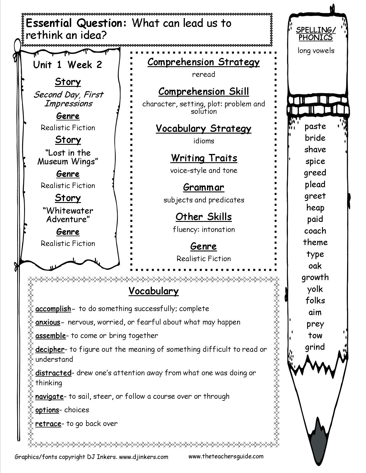 - McGraw-Hill Wonders Fifth Grade Resources And Printouts