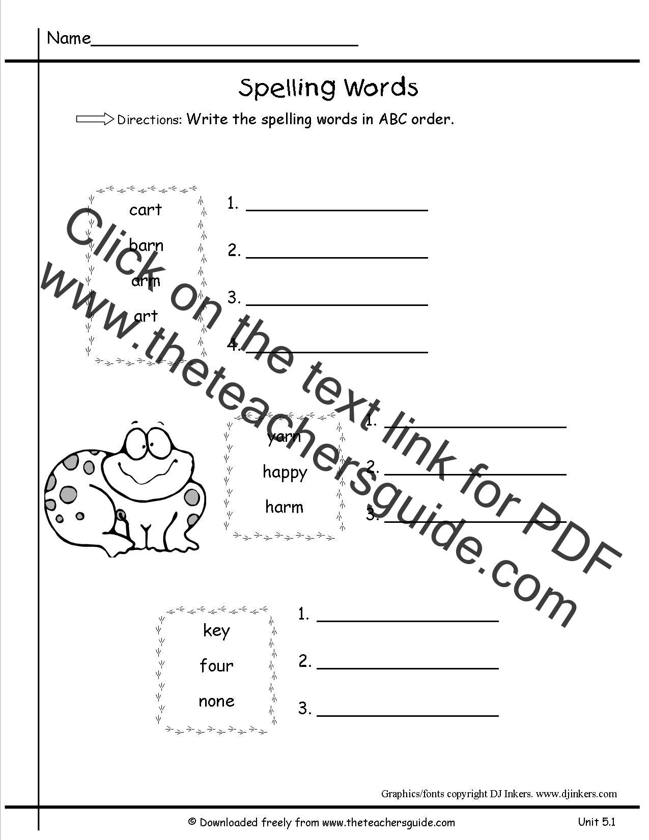 First grade worksheet printouts