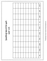 wonders first grade unit four week five printout spelling words graph