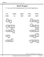 wonders first grade unit four week five printout spelling word shapes