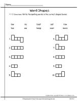 wonders first grade unit four week three printout spelling word shapes