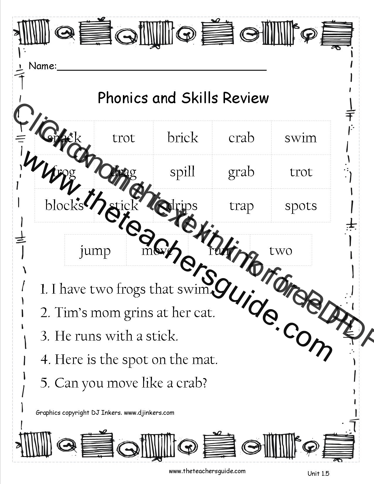 Unitoneweekfivephonicsskillsreview in addition Original also Original as well Original further Original. on first grade worksheets spelling words
