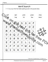first grade wonders unit one week five spelling word search