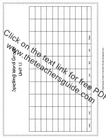 first grade wonders unit one week one spelling words graph
