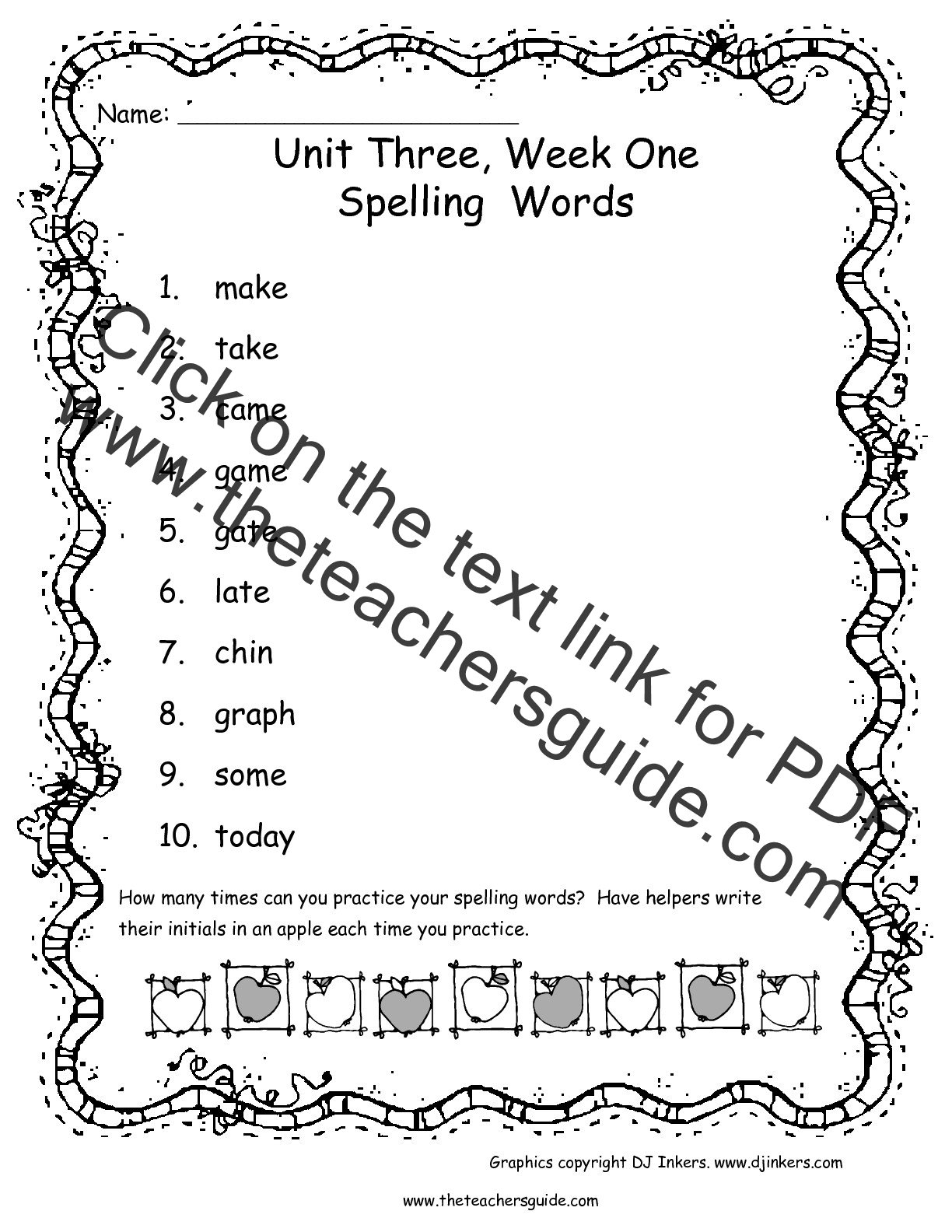 worksheet First Grade Vocabulary Worksheets wonders first grade unit three week one printouts spelling words