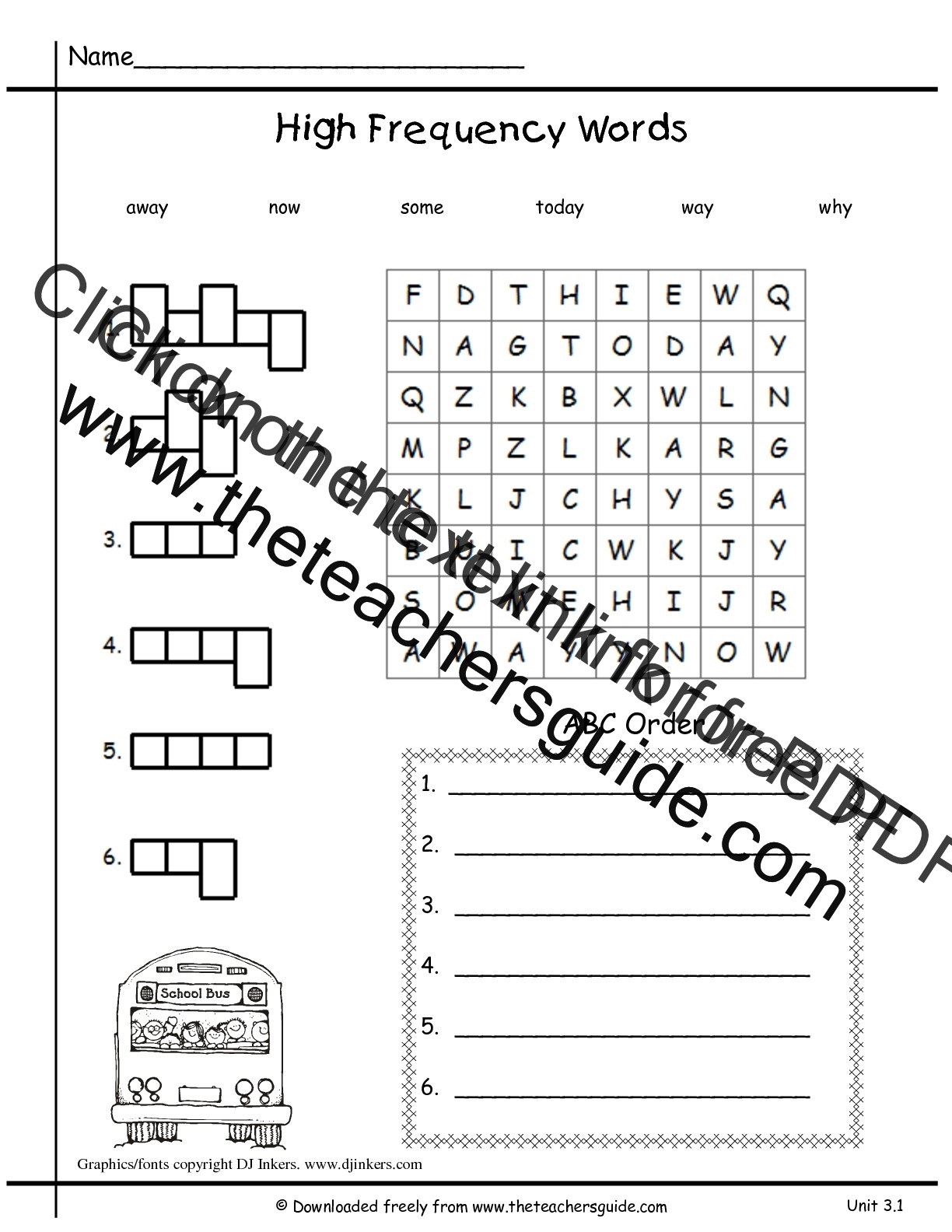 Worksheet Verbs Grade 3 wonders first grade unit three week one printouts 3 high frequency words worksheet