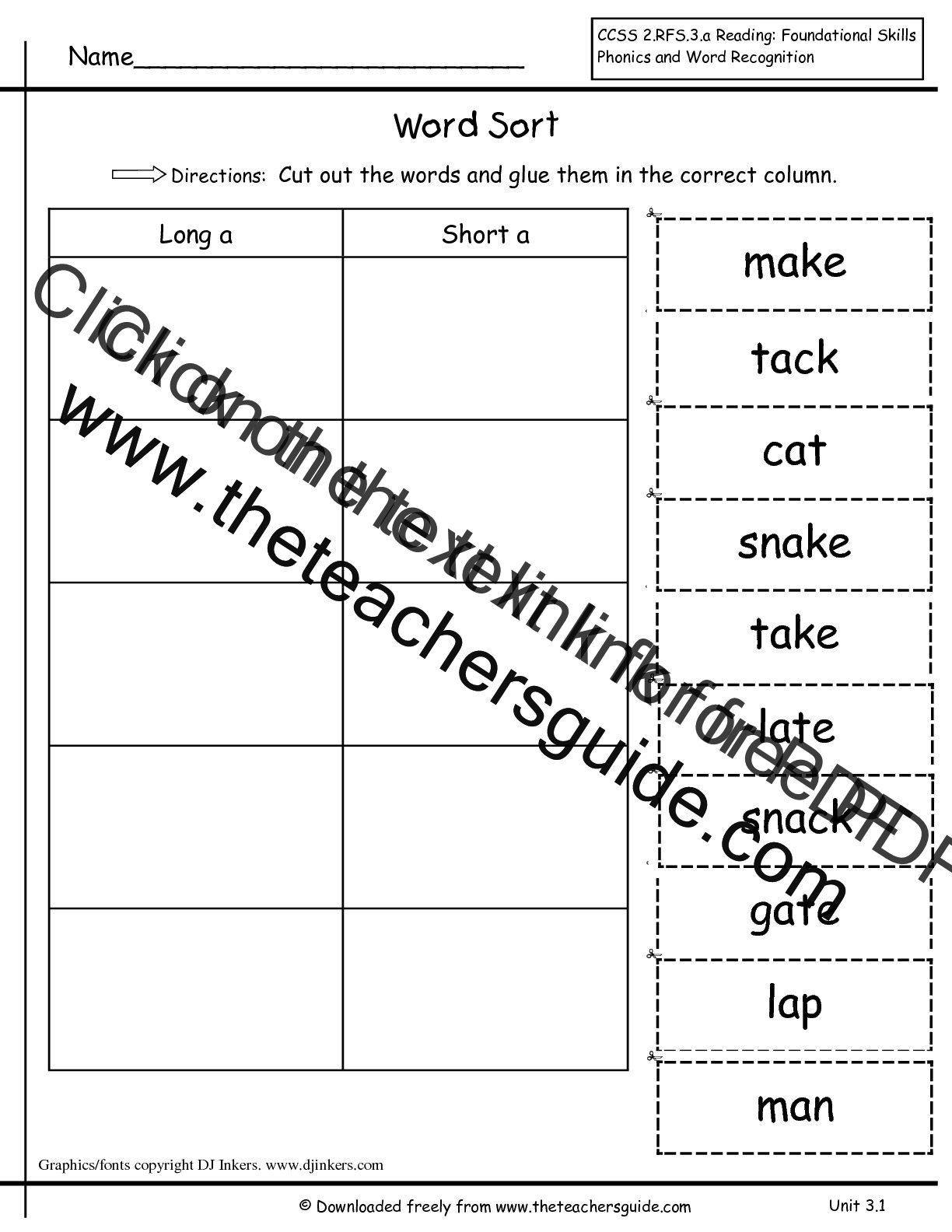worksheet Spelling Worksheets For Grade 3 wonders first grade unit three week one printouts word sort