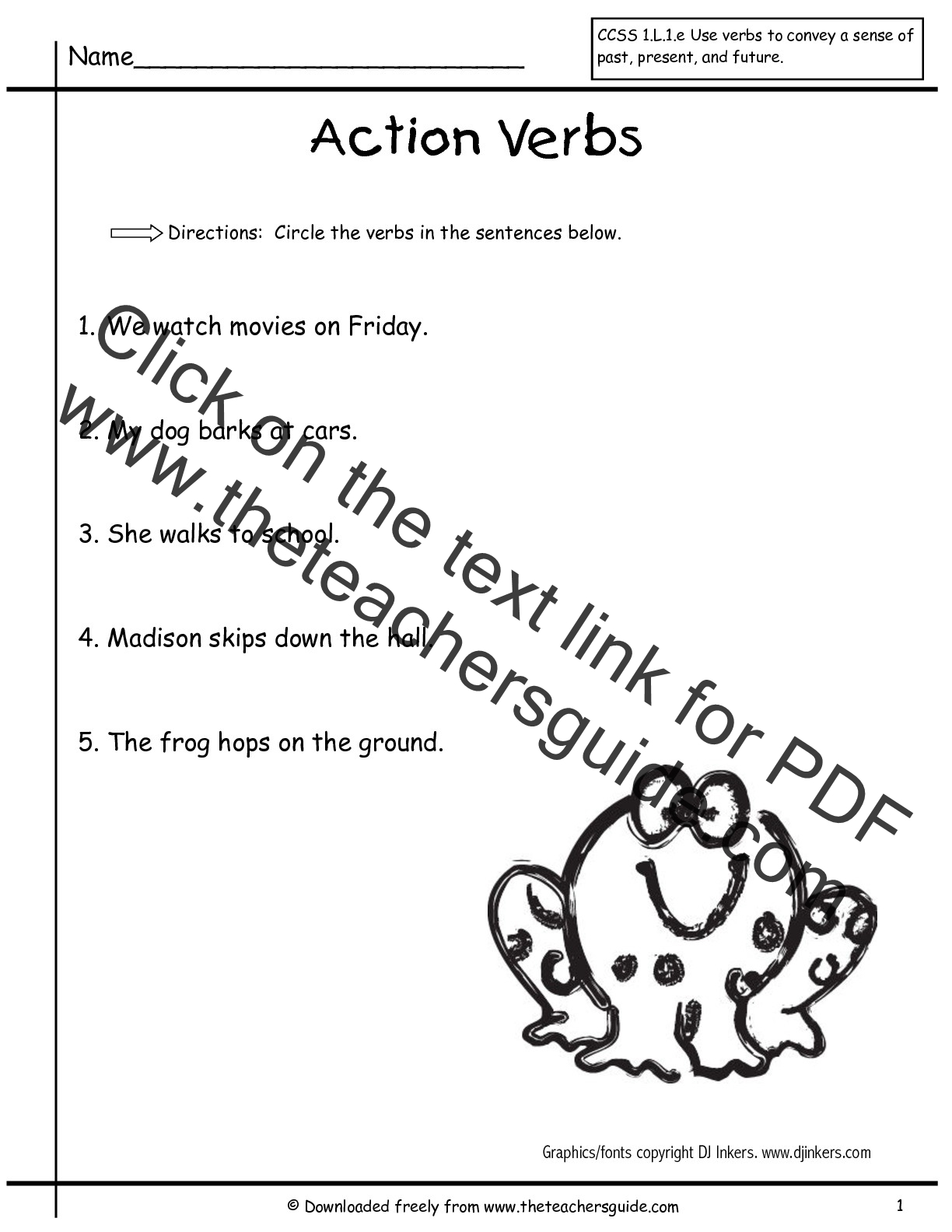 worksheet Commas In A Series Worksheets first grade unit three week one printouts verbs worksheet