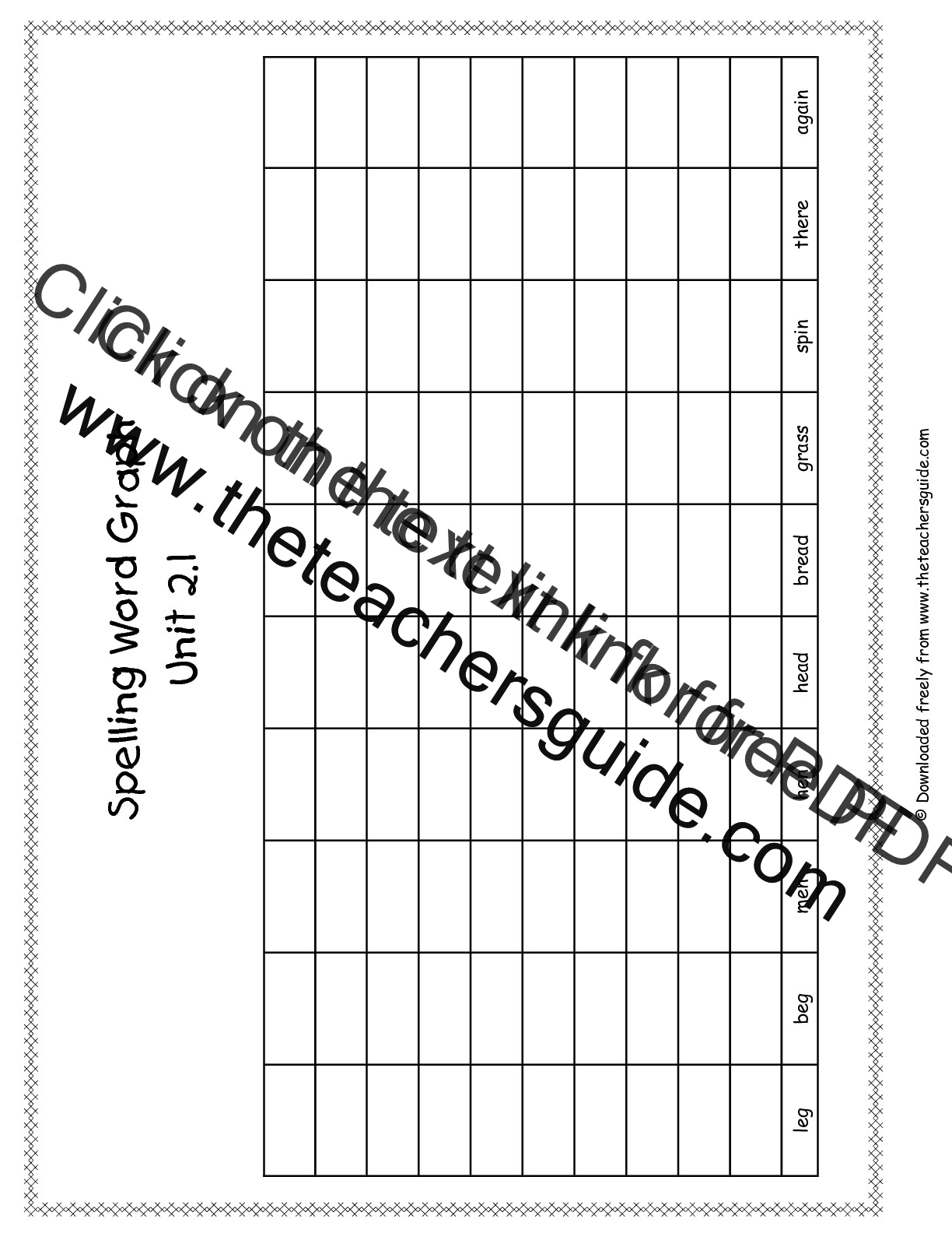 Wonders First Grade Unit Two Week One Printouts – Word Graph Template