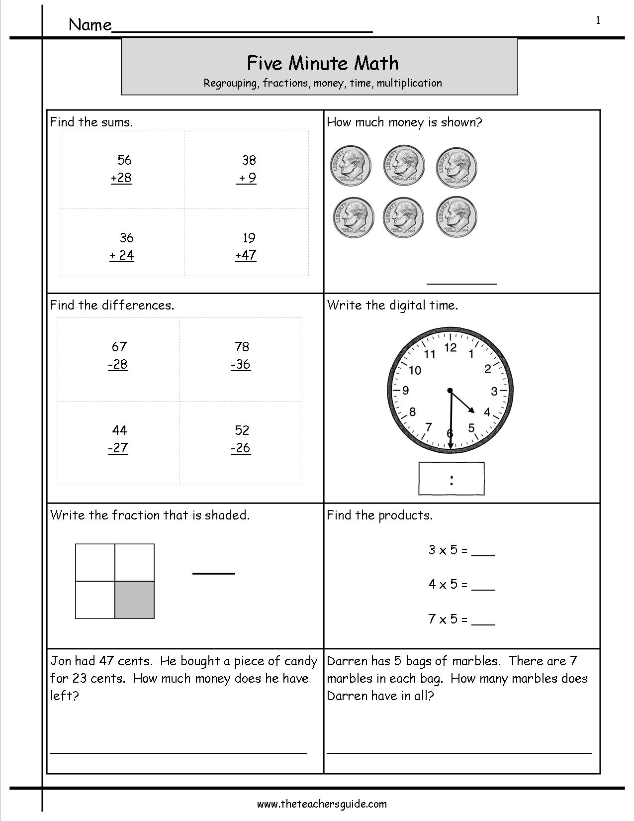Worksheet Free Math Minute Worksheets free math minute worksheets imperialdesignstudio five review from the teachers guide
