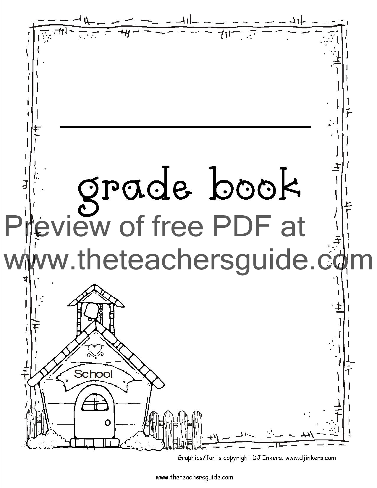 free printable grade books