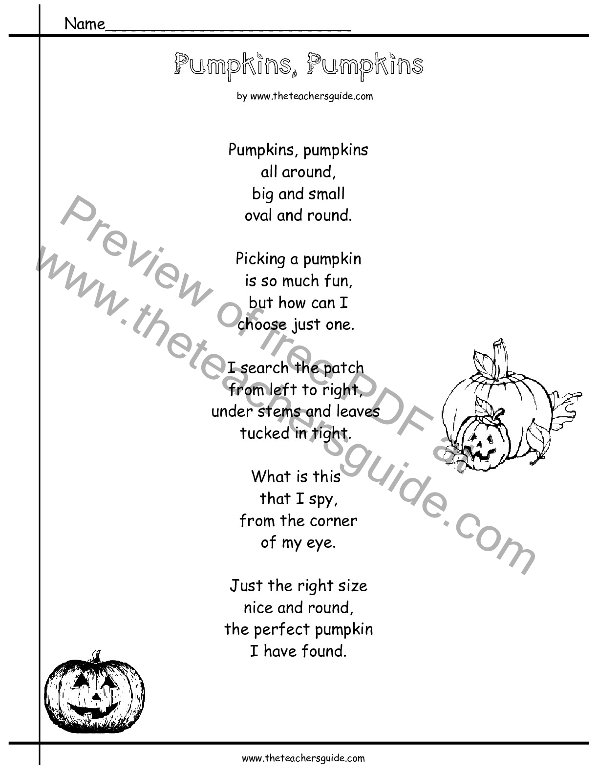 Pumpkins Lesson Plans Themes Printouts Crafts and Clipart – Life Cycle of a Pumpkin Worksheet