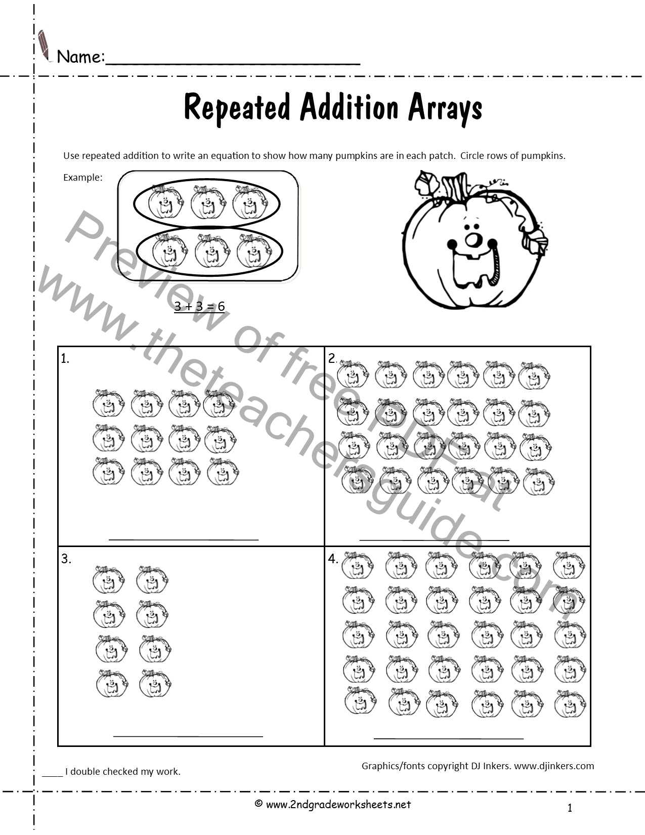 Halloween Printouts from The Teachers Guide – Repeated Addition Worksheets Ks1
