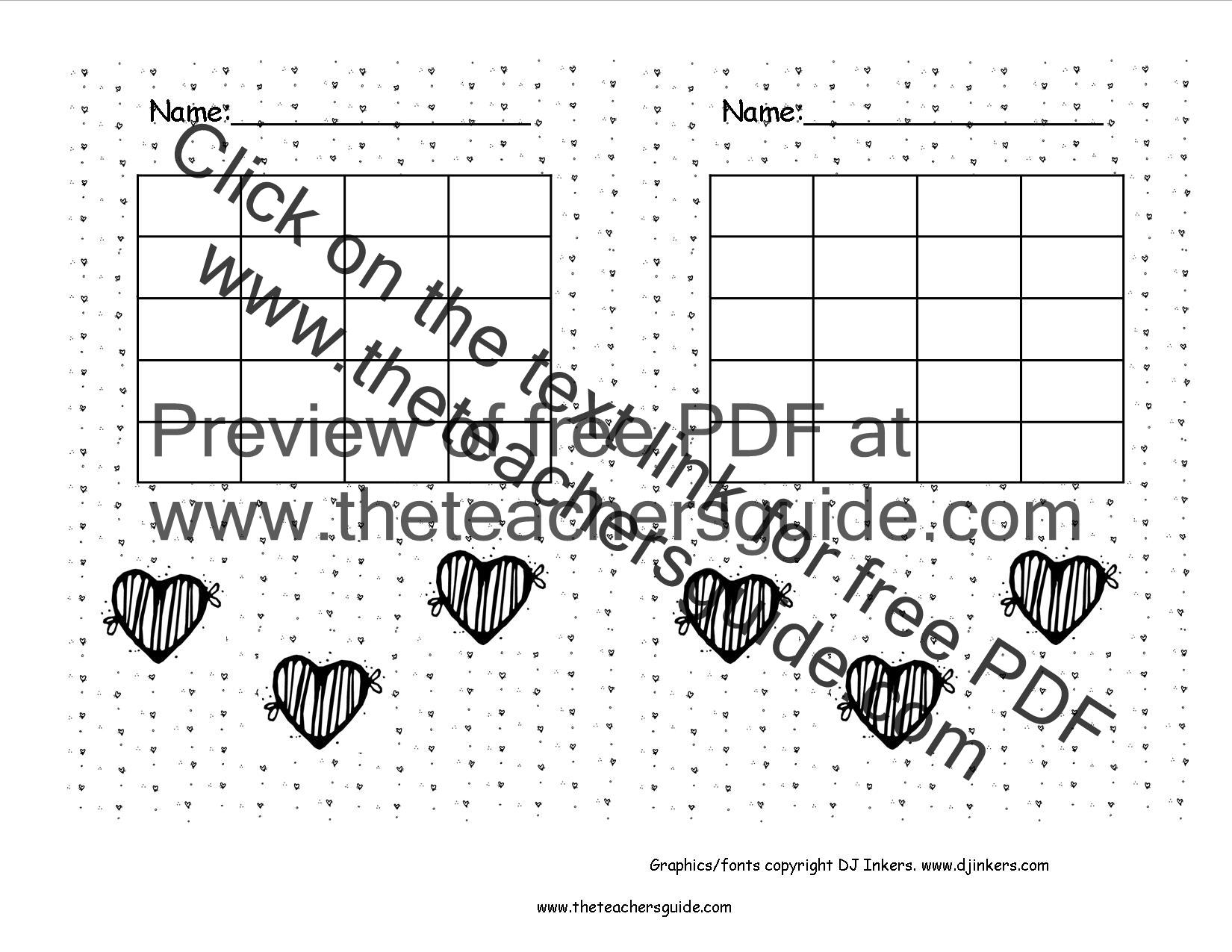 Free Printable Reward and Incentive Charts – Blank Reward Chart