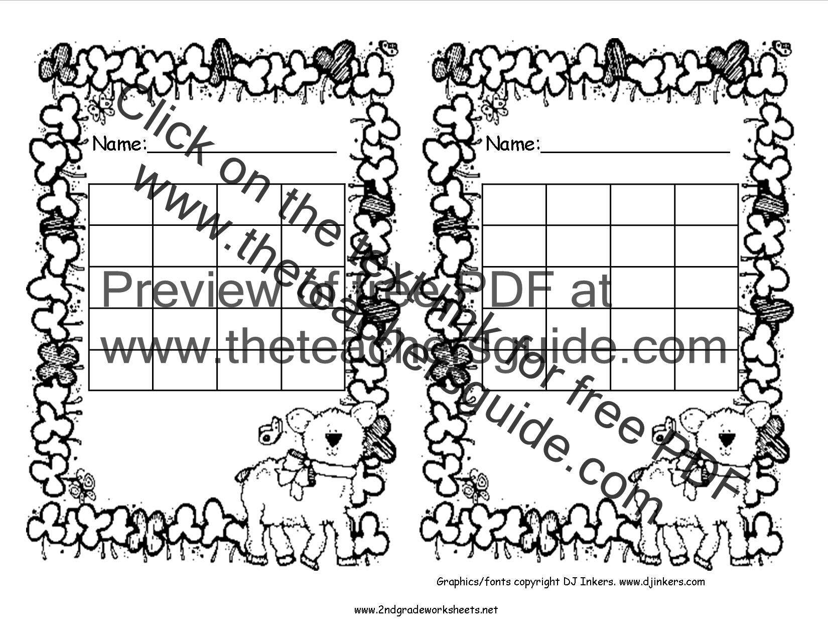 Free Printable Reward and Incentive Charts – Incentive Chart Template