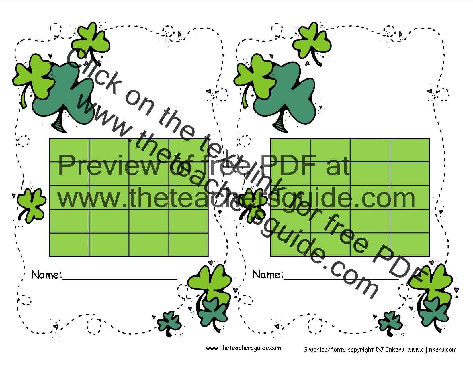 St. Patrick\'s Day Lesson Plans, Themes, Printouts, Crafts