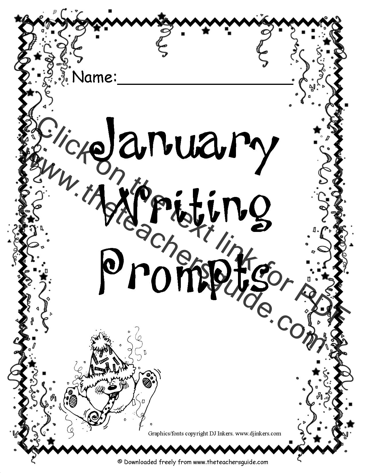 writing prompts for january This document contains 25 writing prompts for the month of january these include sentence starters, questions about winter and cold weather, prompts about martin.