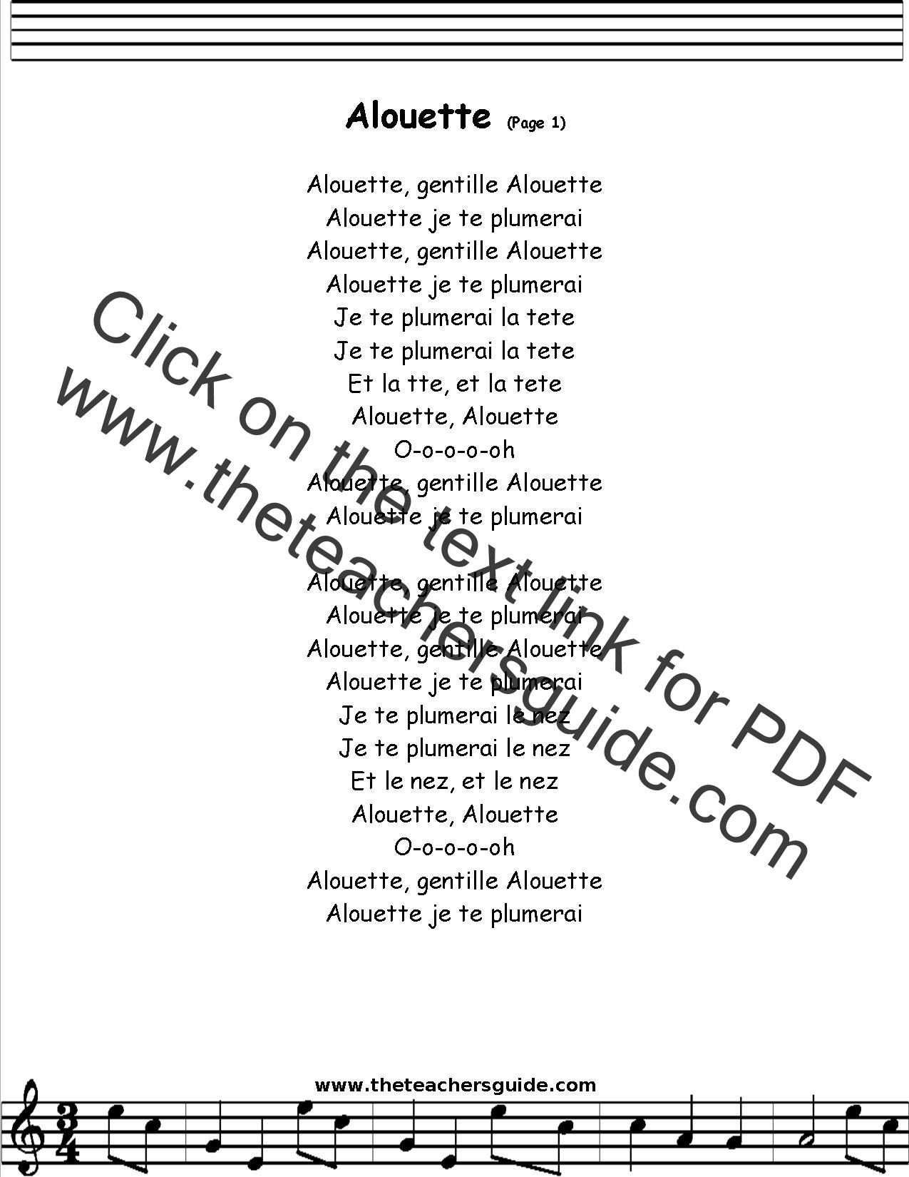 Alouette (song) - Wikipedia