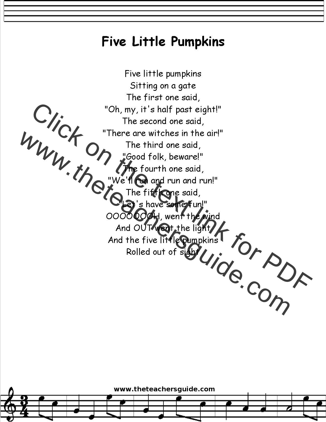 27 Images of Five Little Pumpkins Template | eucotech.com