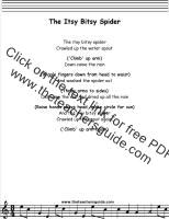 short lyrics bitsy man Itsy dick