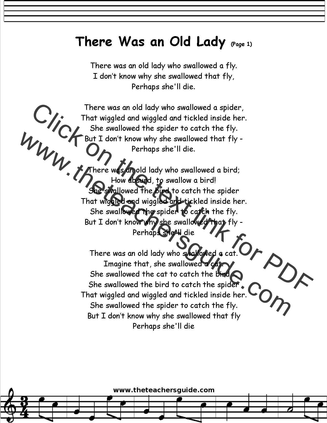 The Old Lady Who Swallowed A Fly lyrics by Flipper ...