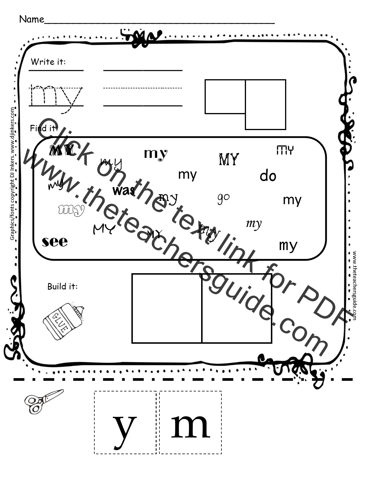 Mysightword furthermore Zoo Picture Cloze P besides Printing Practice Lower Case H Premium also Dab It Alphabet Worksheets Lower And Uppercase Letters together with Preschool Worksheets St Patricks Day. on kindergarten worksheet for re