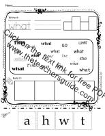 The Teachers GuideFree Lesson Plans Printouts And Resources - Daily lesson plan template for kindergarten