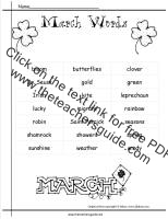 march word list