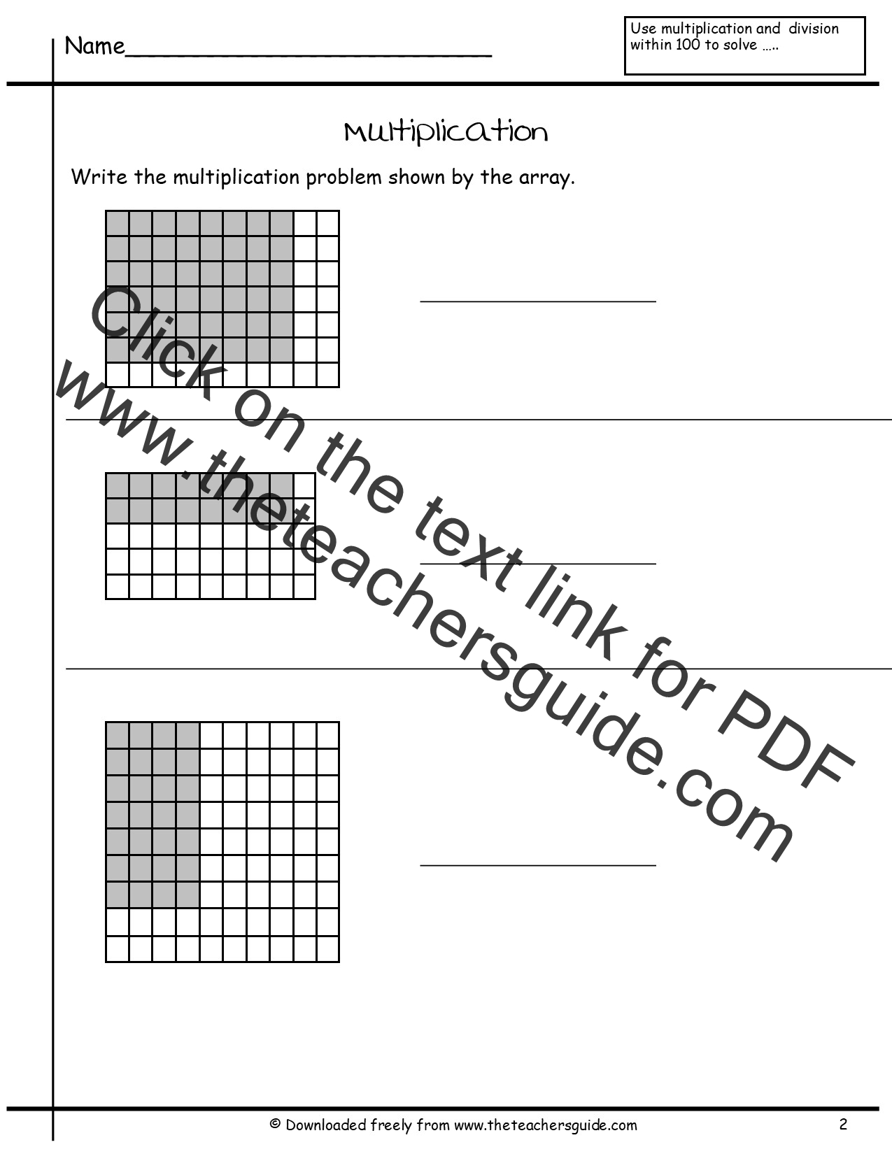 Worksheets Teaching Multiplication Worksheets multiplication array worksheets from the teachers guide worksheets