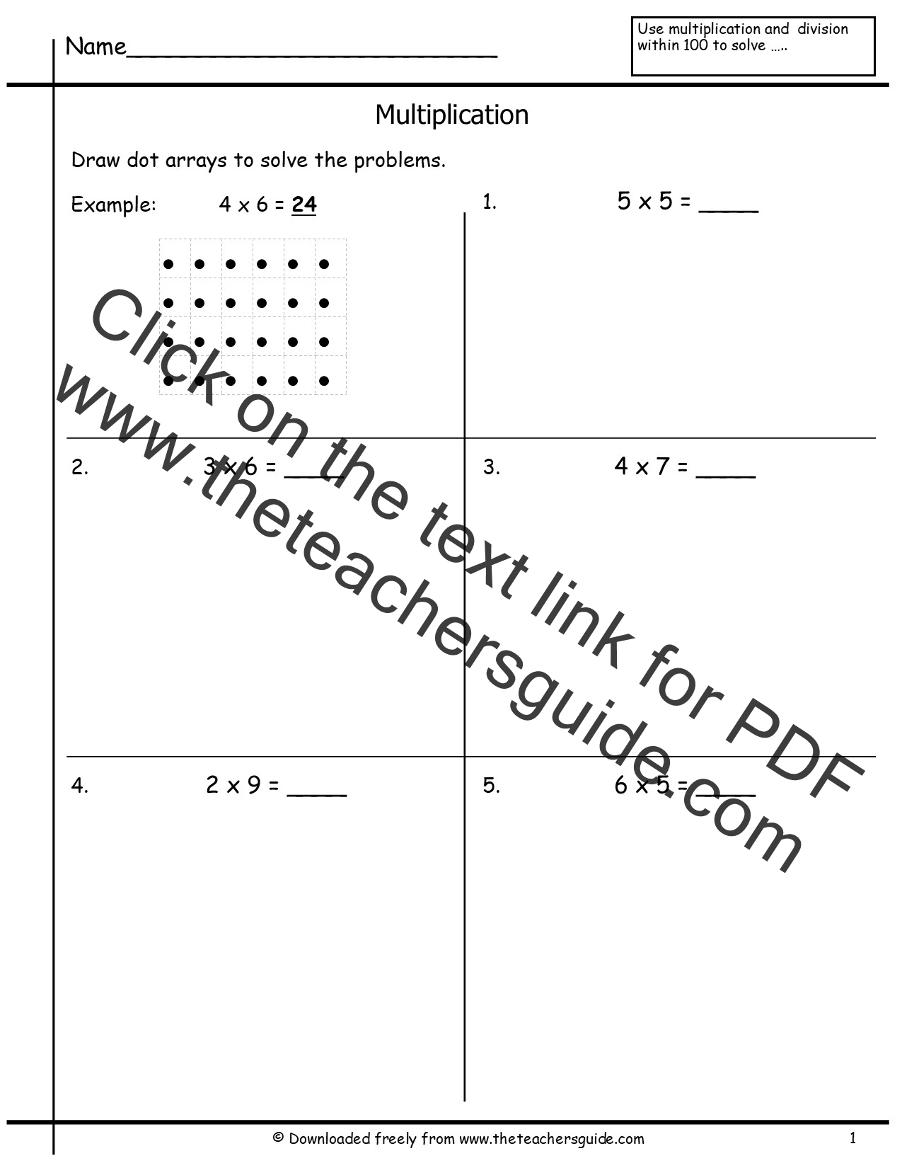FREE Multiplication Madness 50 pages by Down Under Teacher